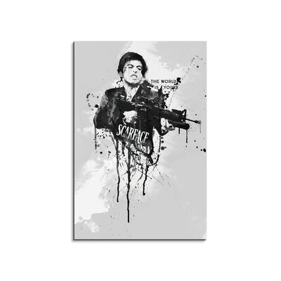 PaulSinusArt Enigma Al Pacino Scarface Painting Print on Canvas