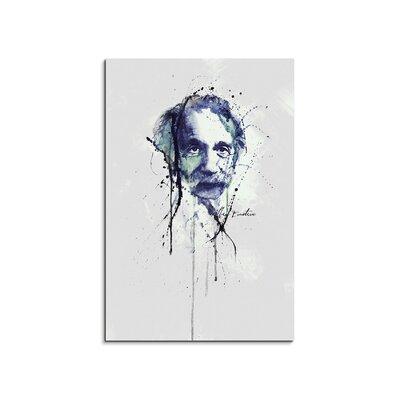 PaulSinusArt Enigma Albert Einstein Painting Print on Canvas
