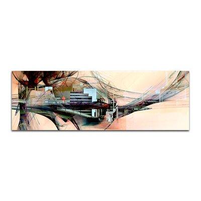 PaulSinusArt Enigma Panorama Abstrakt 328 Painting Print on Canvas