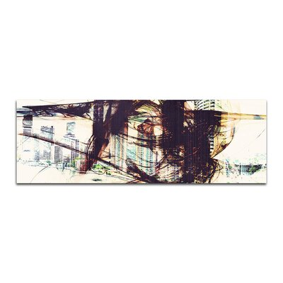 PaulSinusArt Enigma Panorama Abstrakt 330 Painting Print on Canvas