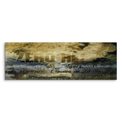 PaulSinusArt Enigma Panorama Abstrakt 1031 Painting Print on Canvas