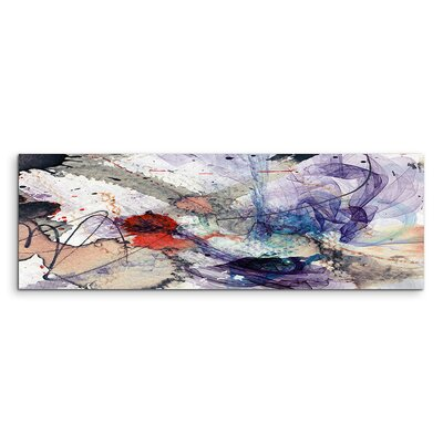 PaulSinusArt Enigma Panorama Abstrakt 1038 Painting Print on Canvas