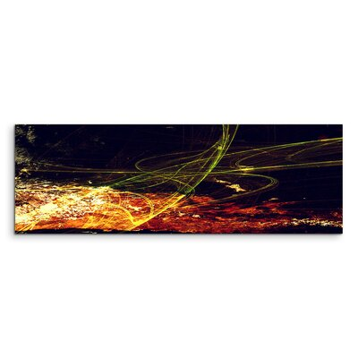 PaulSinusArt Enigma Panorama Abstrakt 1044 Painting Print on Canvas