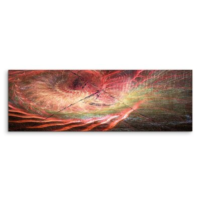 PaulSinusArt Enigma Panorama Abstrakt 1240 Painting Print on Canvas