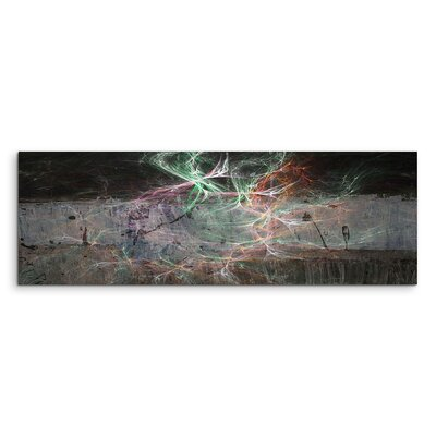 PaulSinusArt Enigma Panorama Abstrakt 1253 Painting Print on Canvas