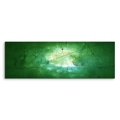 PaulSinusArt Enigma Panorama Abstrakt 1260 Painting Print on Canvas