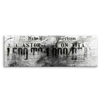 PaulSinusArt Enigma Panorama Abstrakt 1409 Painting Print on Canvas