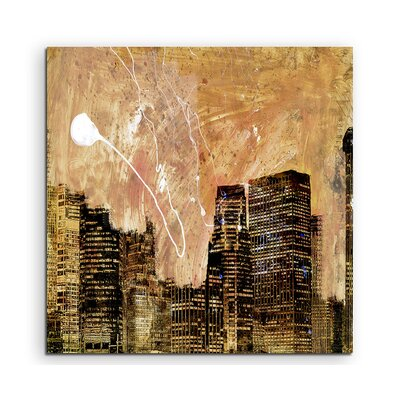 PaulSinusArt Enigma Abstrakt 844 Painting Print on Canvas