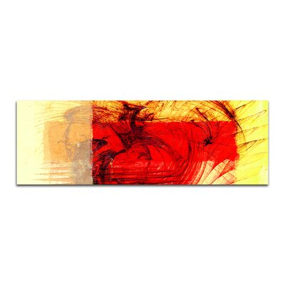 PaulSinusArt Enigma Panorama Abstrakt 060 Painting Print on Canvas