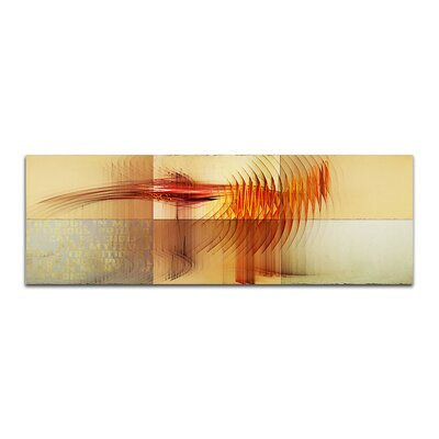 PaulSinusArt Enigma Panorama Abstrakt 063 Painting Print on Canvas