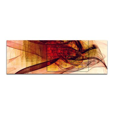 PaulSinusArt Enigma Panorama Abstrakt 064 Painting Print on Canvas