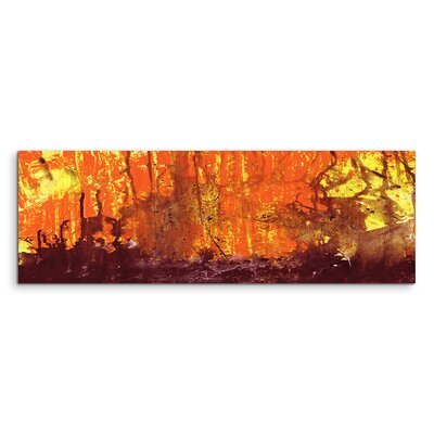 PaulSinusArt Enigma Panorama Abstrakt 633 Painting Print on Canvas