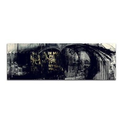 PaulSinusArt Enigma Panorama Abstrakt 066 Painting Print on Canvas