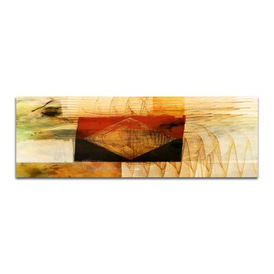PaulSinusArt Enigma Panorama Abstrakt 093 Painting Print on Canvas
