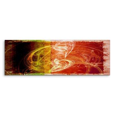 PaulSinusArt Enigma Panorama Abstrakt 1075 Painting Print on Canvas