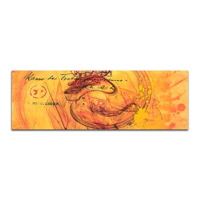 PaulSinusArt Enigma Panorama Abstrakt 104 Painting Print on Canvas