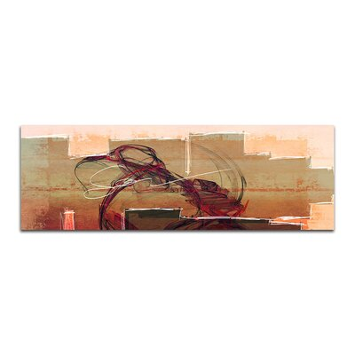 PaulSinusArt Enigma Panorama Abstrakt 105 Painting Print on Canvas