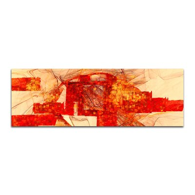PaulSinusArt Enigma Panorama Abstrakt 107 Painting Print on Canvas