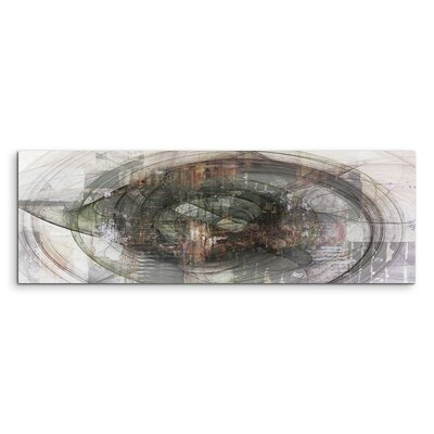 PaulSinusArt Enigma Panorama Abstrakt 1310 Painting Print on Canvas