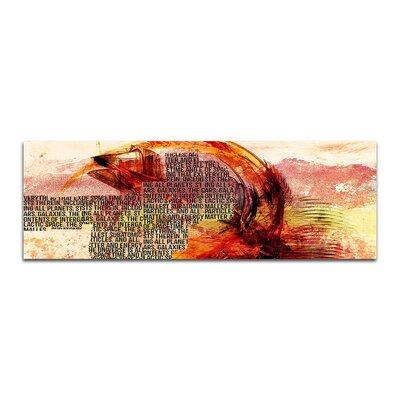 PaulSinusArt Enigma Panorama Abstrakt 281 Painting Print on Canvas
