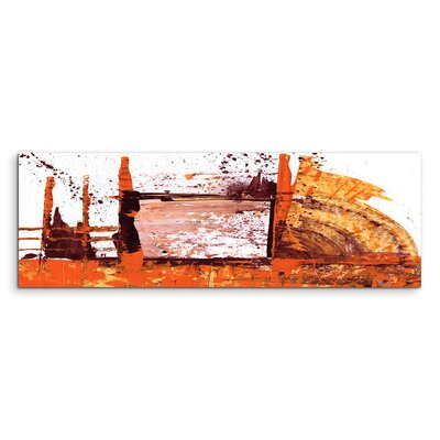 PaulSinusArt Enigma Panorama Abstrakt 674 Painting Print on Canvas