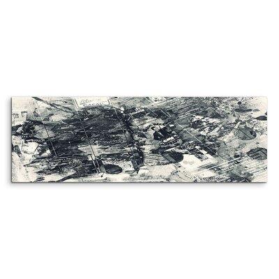 PaulSinusArt Enigma Panorama Abstrakt 831 Painting Print on Canvas