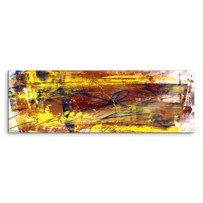 PaulSinusArt Enigma Panorama Abstrakt 834 Painting Print on Canvas