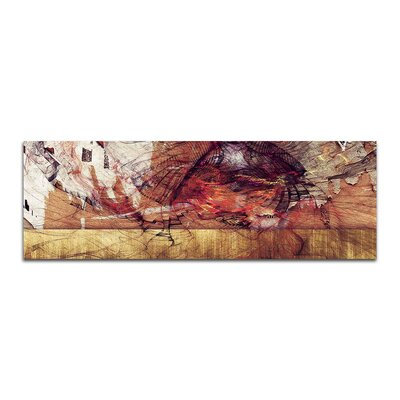 PaulSinusArt Enigma Panorama Abstrakt 456 Painting Print on Canvas