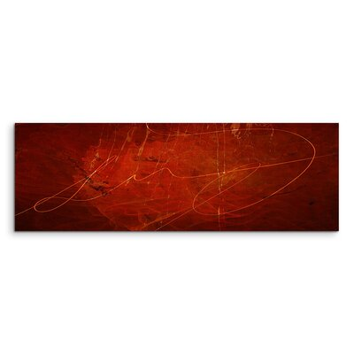 PaulSinusArt Enigma Panorama Abstrakt 1197 Painting Print on Canvas