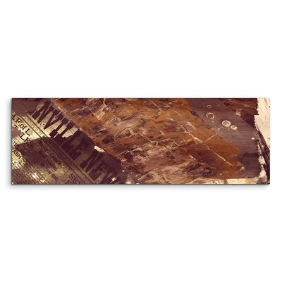 PaulSinusArt Enigma Panorama Abstrakt 685 Painting Print on Canvas