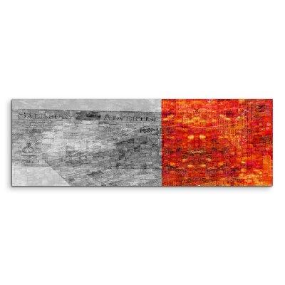 PaulSinusArt Enigma Panorama Abstrakt 686 Painting Print on Canvas