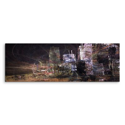 PaulSinusArt Enigma Panorama Abstrakt 1468 Painting Print on Canvas