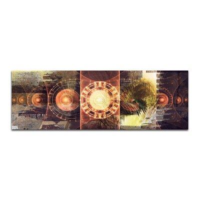 PaulSinusArt Enigma Panorama Abstrakt 467 Painting Print on Canvas