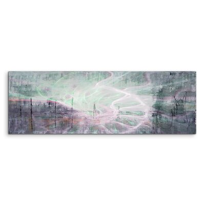PaulSinusArt Enigma Panorama Abstrakt 1207 Painting Print on Canvas