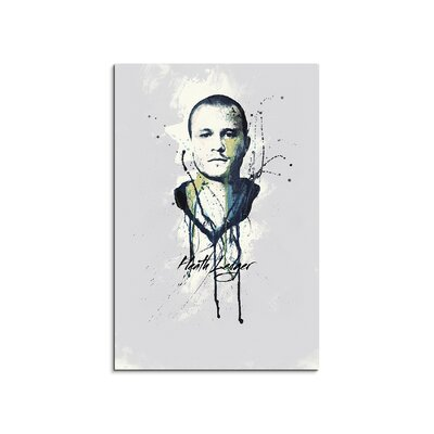 PaulSinusArt Enigma Heath Ledger Painting Print on Canvas