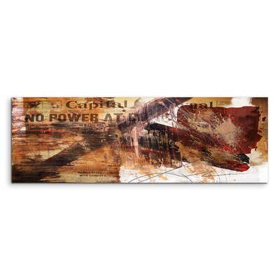 PaulSinusArt Enigma Panorama Abstrakt 578 Painting Print on Canvas