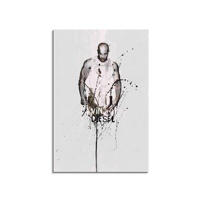 PaulSinusArt Enigma Vin Diesel Painting Print on Canvas