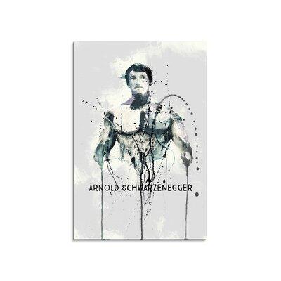 PaulSinusArt Enigma Arnold Schwarzenegger Painting Print on Canvas