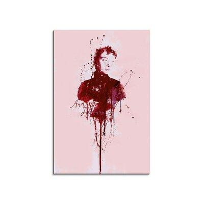 PaulSinusArt Enigma Audrey Hepburn III Painting Print on Canvas
