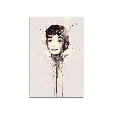PaulSinusArt Enigma Audrey Hepburn IV Painting Print on Canvas