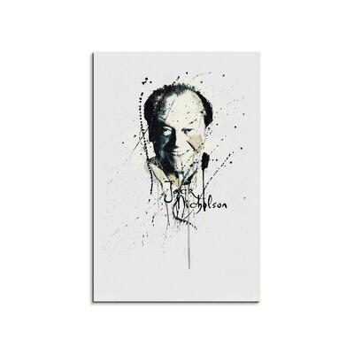 PaulSinusArt Enigma Jack Nicholson Painting Print on Canvas