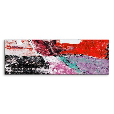 PaulSinusArt Enigma Panorama Abstrakt 583 Painting Print on Canvas