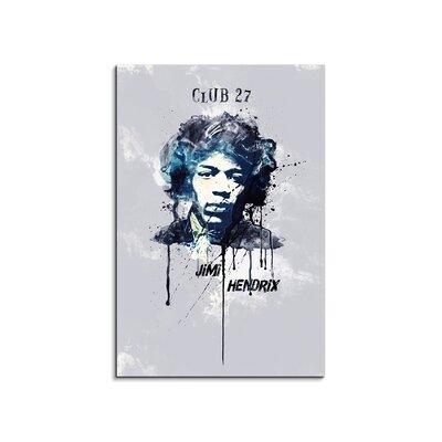 PaulSinusArt Enigma Jimi Hendrix Painting Print on Canvas