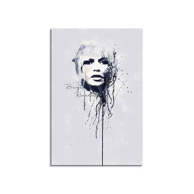 PaulSinusArt Enigma Brigitte Bardot Painting Print on Canvas