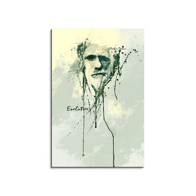 PaulSinusArt Enigma Charles Darwin Painting Print on Canvas