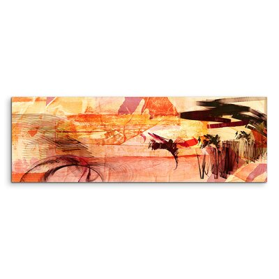 PaulSinusArt Enigma Panorama Abstrakt 766 Painting Print on Canvas
