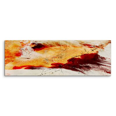 PaulSinusArt Enigma Panorama Abstrakt 555 Painting Print on Canvas