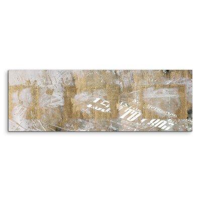 PaulSinusArt Enigma Panorama Abstrakt 558 Painting Print on Canvas
