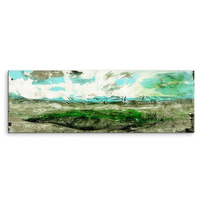 PaulSinusArt Enigma Panorama Abstrakt 772 Painting Print on Canvas