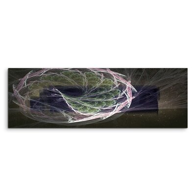 PaulSinusArt Enigma Panorama Abstrakt 1007 Painting Print on Canvas